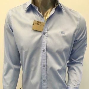 NEW BURBERRY BRIT MEN PALE BLUE SHIRT